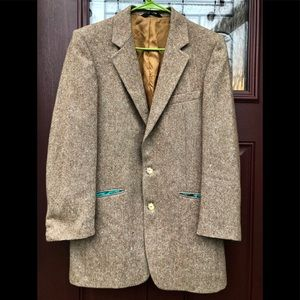Vtg 1970's Wool Sport Coat Suit Jacket Blazer 36L